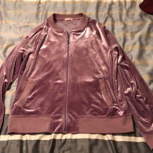 Zip up glitter-y sweatshirt